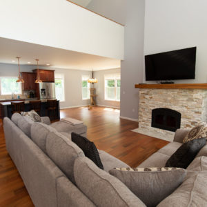 Custom Home Builder Interior Living Room Kitchen