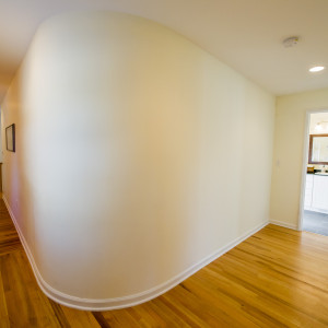 Brunswick Radius Wall in Hallway