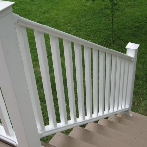 Composite Decking with Vinyl Handrail - Castleton NY