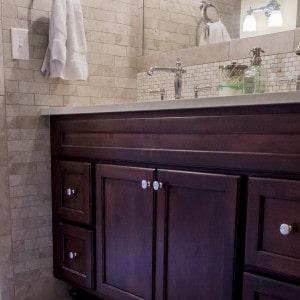 Custom Cabinets in Bathroom Remodeling