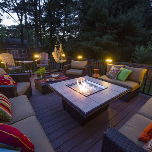 Deck Construction with Fire Pit - Clifton Park NY