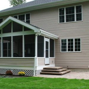 Maintenance Free Screen Porch Addition in Clifton Park NY