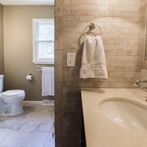 Niskayuna Bathroom Remodel with Backsplash