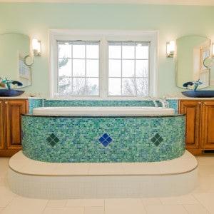 Troy master Bathroom Custom Cabinets