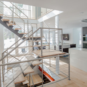 Voorheesville, NY Luxury Floating Staircase