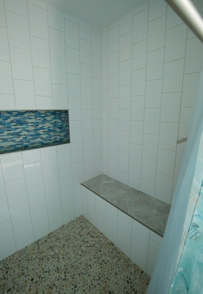 Schenectady bathroom remodeling shower bench