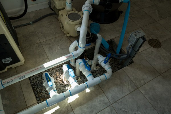 Piping for Pool Filter and Heater