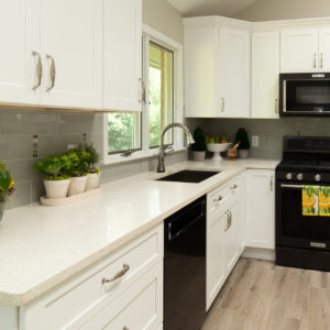 Albany Kitchen Remodel Quartz Counter Top Cabinets