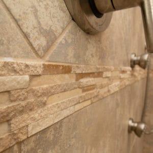 Custom Home Master Bathroom Shower Detail