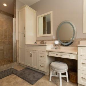 Custom Home Master Bathroom Vanity Off