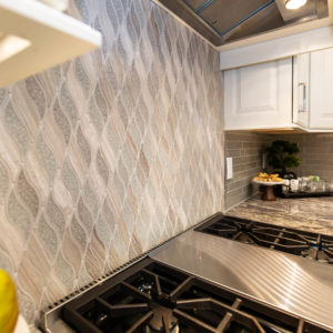 Kitchen Remodel wavy backsplash tile