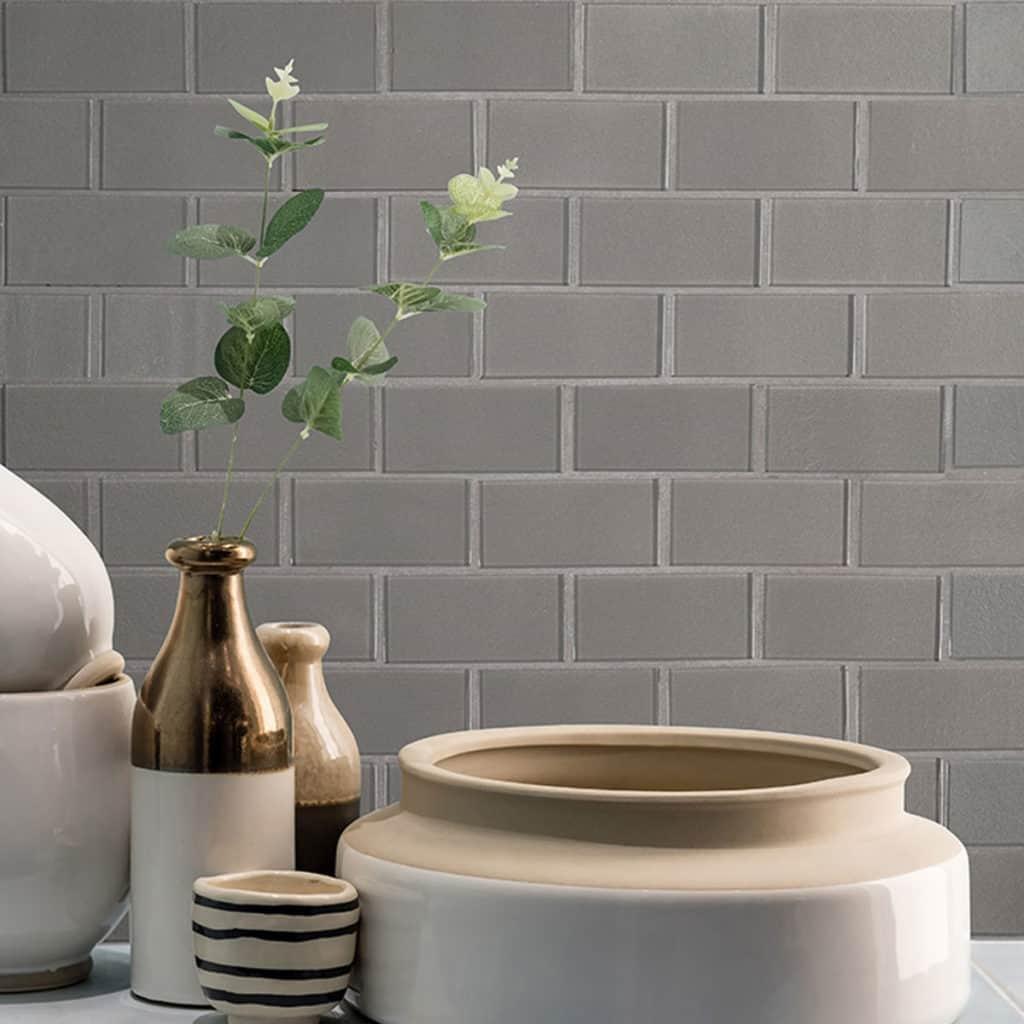 Gray Subway Tile for Countertop