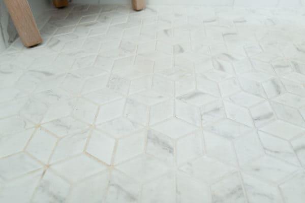 Bathroom Remodeling with rhombus tile