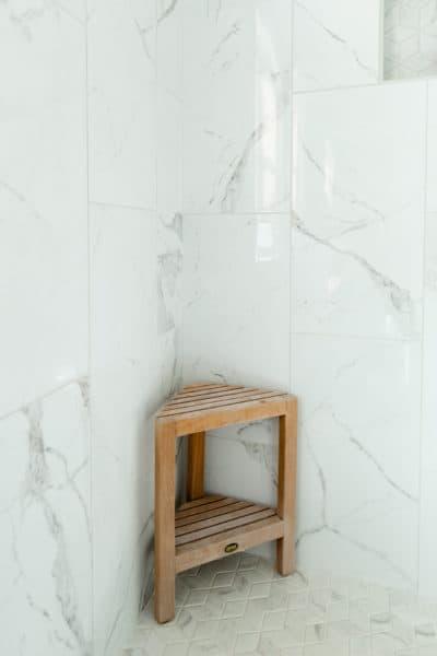 Bathroom Remodeling with vertical brick tile