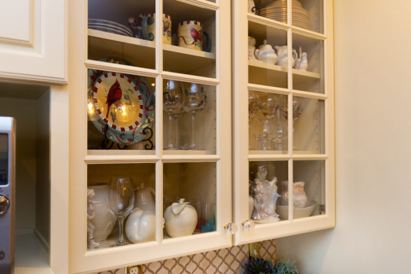 Troy Kitchen Remodeling with Glass Cabinet Doors