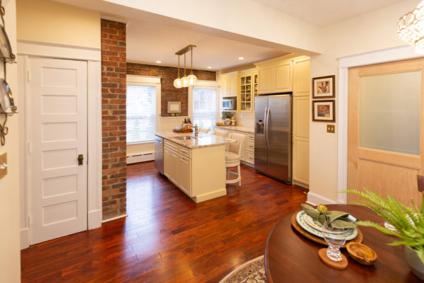Troy Kitchen Remodeling with Cherry Hardwood Flooring